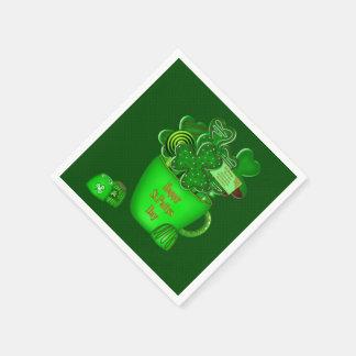 Ramo irlandés de la galleta del trébol - servilletas de papel