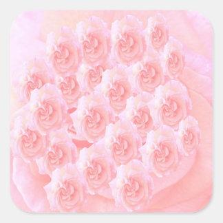 Ramo ligero del rosa rojo de la sombra pegatina cuadrada