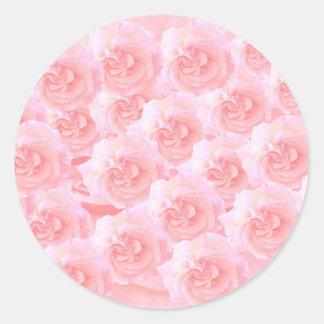 Ramo ligero del rosa rojo de la sombra pegatina redonda