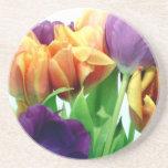 Ramo magnífico de los tulipanes posavasos personalizados