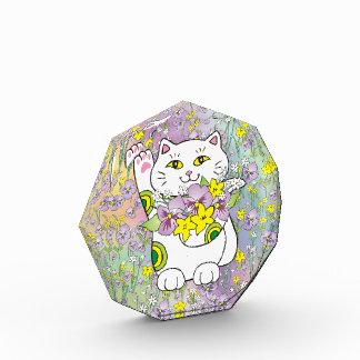 Ramo Maneki Neko (gato afortunado) de la primavera
