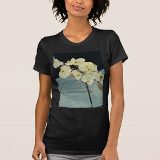 ramo nupcial de la orquídea blanca - flores del camiseta