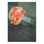 Ramo nupcial de los rosas plantillas de tarjetas de visita