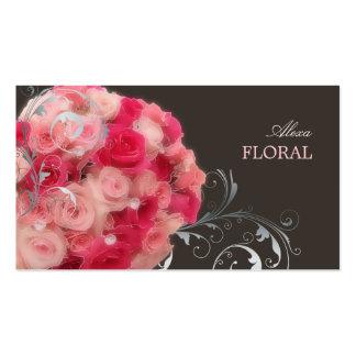 Ramo nupcial de PixDezines, floristas/colores diy Tarjetas De Negocios