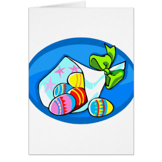 ramo oval.png azul del huevo tarjeta pequeña