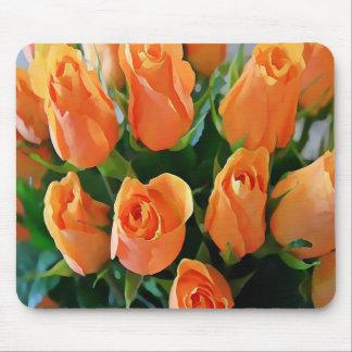 Ramo Painterly de cojín de ratón de los rosas del Alfombrillas De Raton