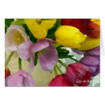 """""""Ramo pintado de los tulipanes """" Felicitacion"""