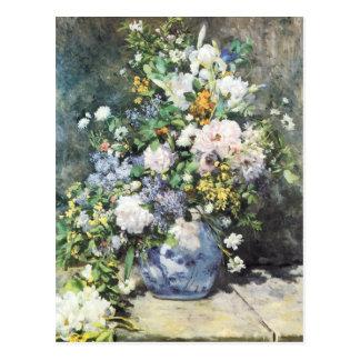 Ramo por Renoir flores de la primavera del Postal