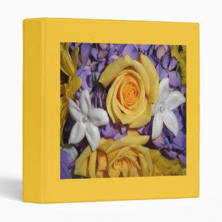 """Ramo púrpura, amarillo y blanco del boda carpeta 1"""""""