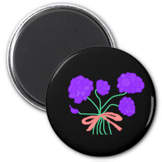 Ramo púrpura de la perfección imán redondo 5 cm