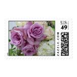 Ramo púrpura del boda sellos