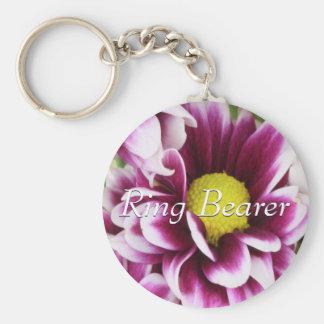 Ramo púrpura del portador de anillo llavero personalizado