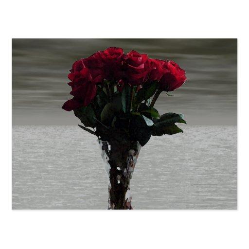 Ramo romántico de los rosas 3D Postal
