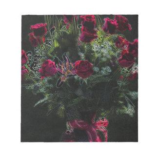 Ramo romántico del rosa rojo del arte de Digitaces Bloc De Notas