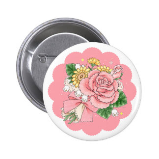 Ramo (rosa) pin redondo 5 cm