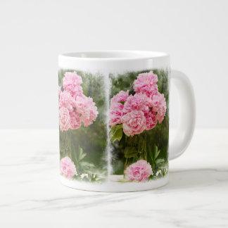 Ramo rosado afilado suave del Peony Taza Grande