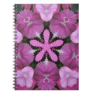 Ramo rosado de la flor de la estrella notebook
