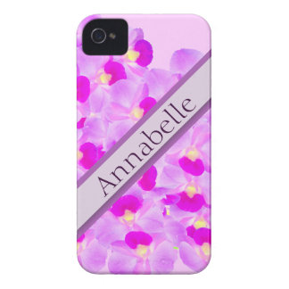 Ramo rosado de la orquídea Case-Mate iPhone 4 cobertura