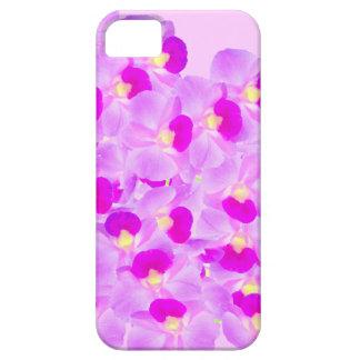 Ramo rosado de la orquídea funda para iPhone 5 barely there