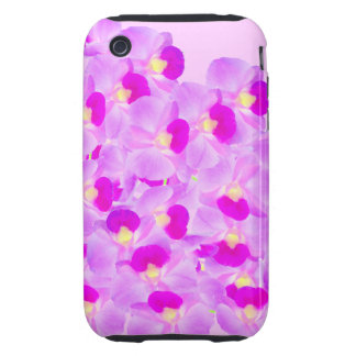 Ramo rosado de la orquídea iPhone 3 tough carcasa