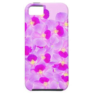 Ramo rosado de la orquídea iPhone 5 fundas