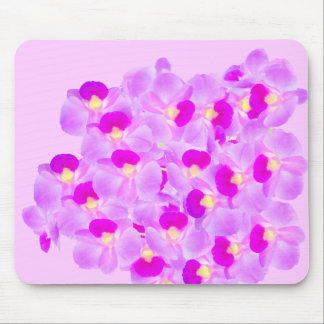 Ramo rosado de la orquídea mouse pad