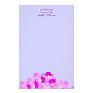 Ramo rosado de la orquídea papelería personalizada
