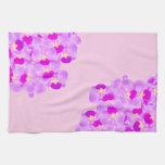 Ramo rosado de la orquídea toallas