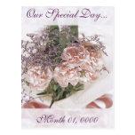 Ramo rosado delicado de la flor tarjetas postales