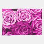 Ramo rosado magenta bonito de la flor de los rosas toalla