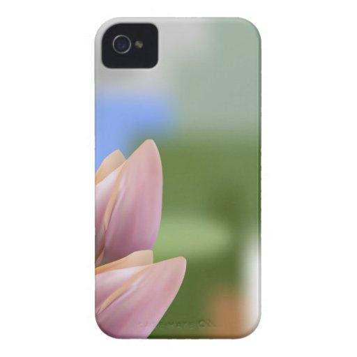 Ramo rosado suave de tulipanes en empañado iPhone 4 Case-Mate carcasa