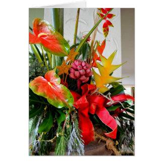 Ramo tropical del navidad felicitación