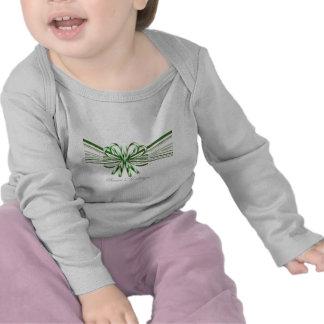 Ramo verde y blanco del bastón de caramelo camiseta