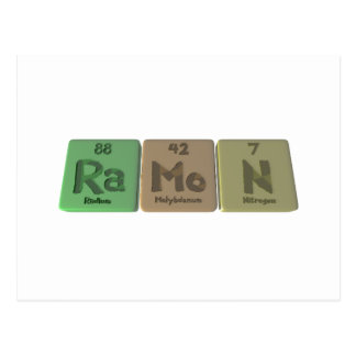 Ramon as Radium Molybdenum Sodium Postcard