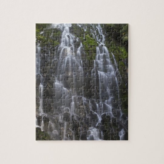 Ramona Falls in Clackamas county, Oregon Jigsaw Puzzle