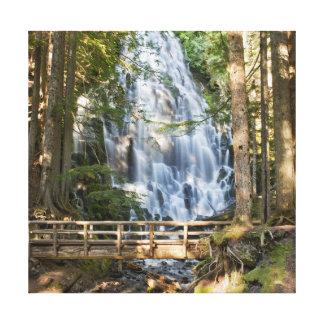 Ramona Falls in Oregon Stretched Canvas Print