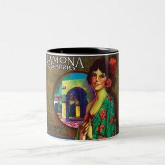 Ramona Memories Vintage Beautiful Mexican Roses Two-Tone Coffee Mug