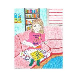 Ramona's Favourite Books, art on canvas