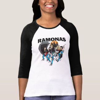 RAMONAS - Señoras 3/4 camiseta del raglán (FIT)