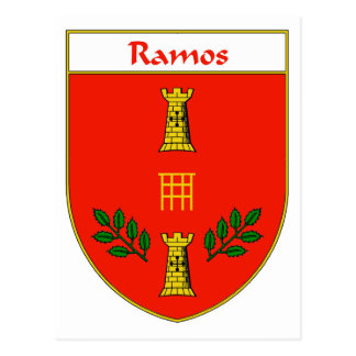 Ramos Coat of Arms/Family Crest Postcard