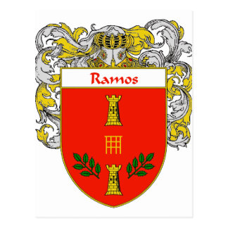 Ramos Coat of Arms (Mantled) Postcard