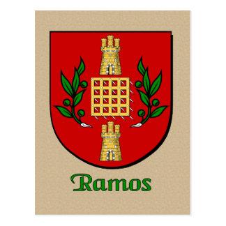 Ramos Family Heraldic Shield Postcard