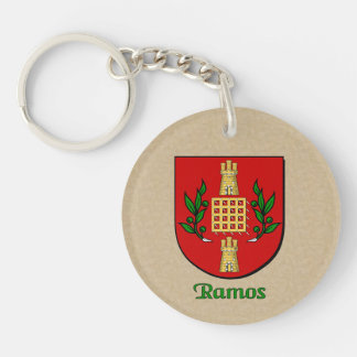 Ramos Historical Shield and Spanish Flag Keychain