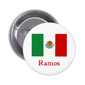 Ramos Mexican Flag Pinback Buttons
