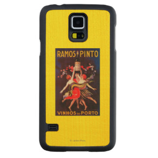 Ramos Pinto Vintage PosterEurope Carved® Maple Galaxy S5 Slim Case