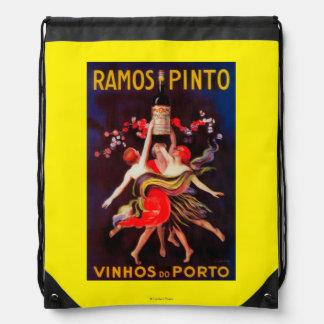 Ramos Pinto Vintage PosterEurope Drawstring Bag