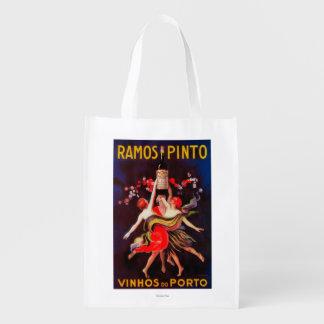 Ramos Pinto Vintage PosterEurope Grocery Bag