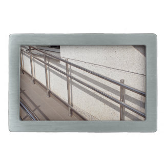 Ramp for physically challenged at the entrance belt buckle