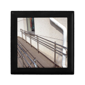Ramp for physically challenged at the entrance keepsake box