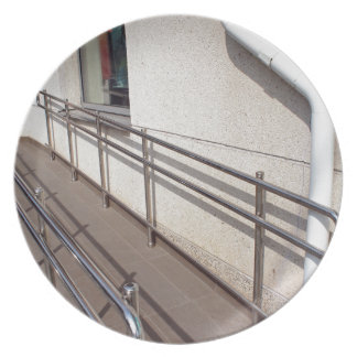 Ramp for physically challenged at the entrance melamine plate
